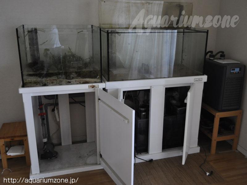 メルカリで販売した中古オーバーフロー水槽とクーラー