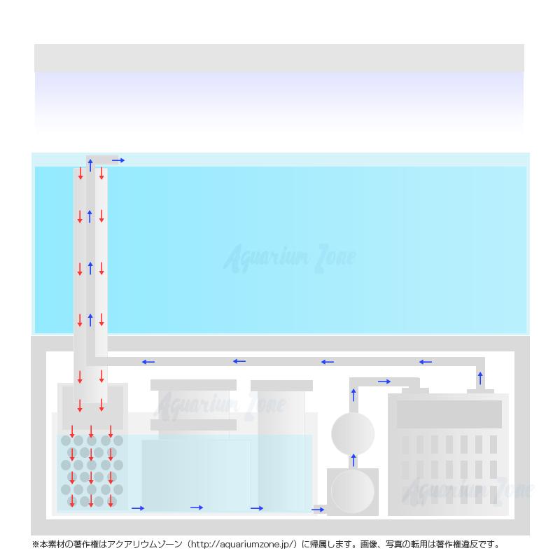 オーバーフロー水槽の仕組み