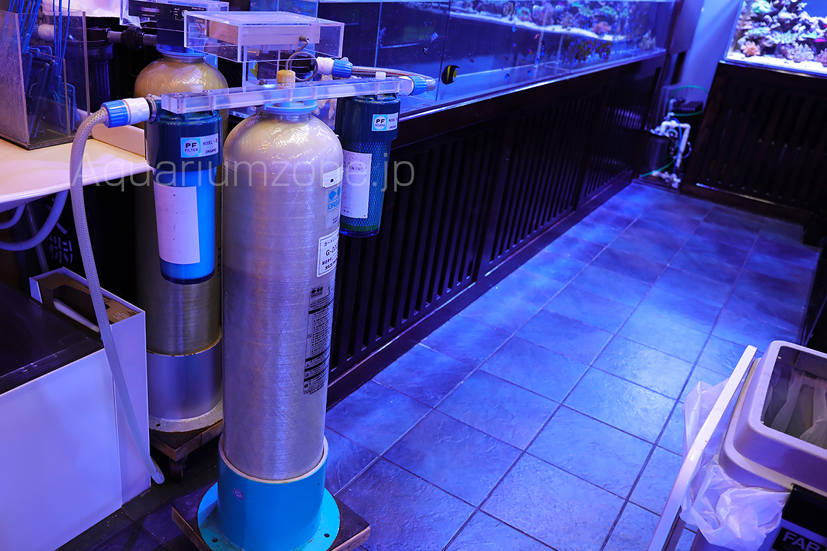 ミドリイシ飼育に利用しているオルガノ浄水器