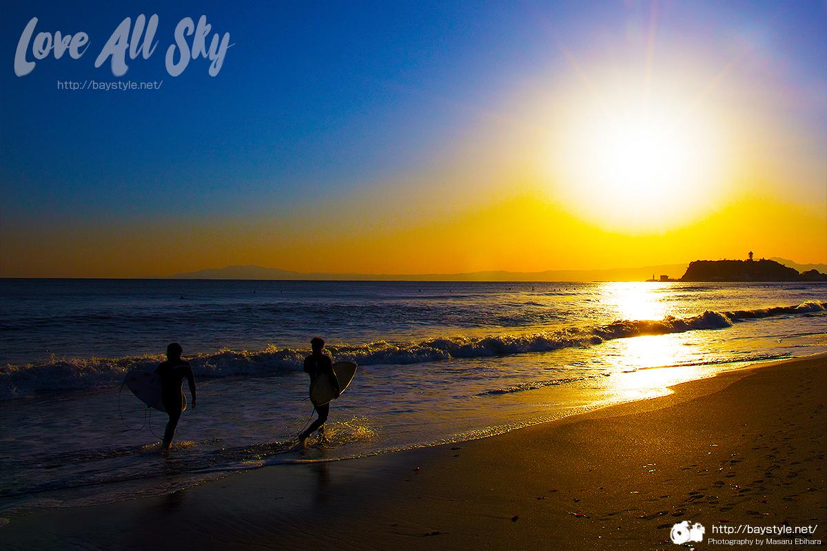 七里ヶ浜で撮影した少し動きのある風景