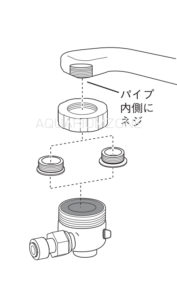 泡沫が付いた蛇口の場合(2)