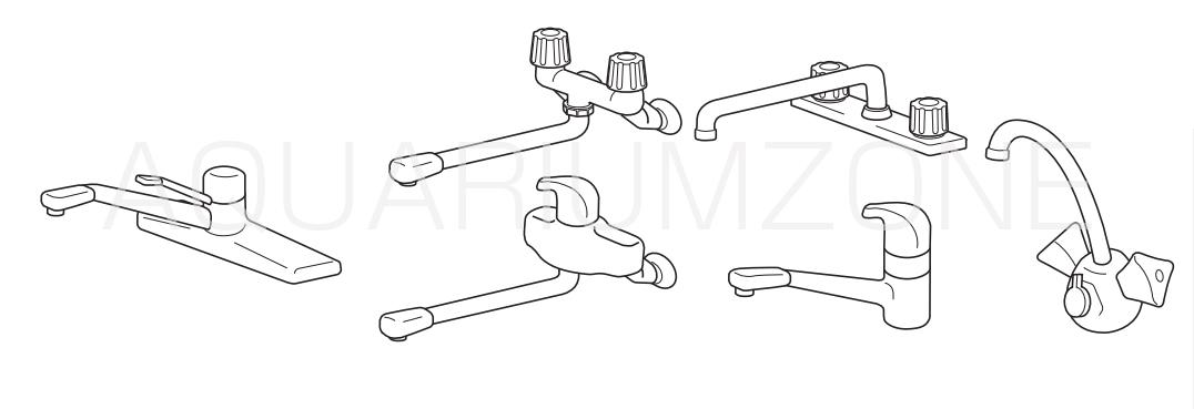 泡沫が付いた蛇口の場合(1)(取り付けられる水栓形状)