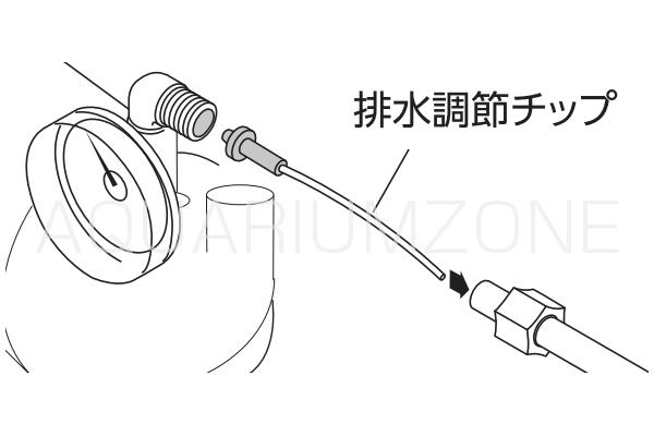 排水調節チップの接続